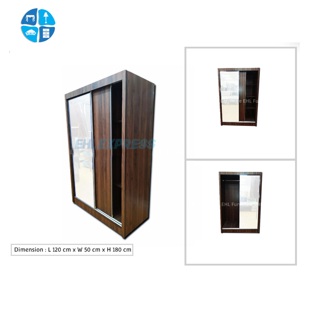 EHL EXPRESS Wardrobe with sliding door - 4ft size (FREE INSTALLATION for Klang Valley Only)
