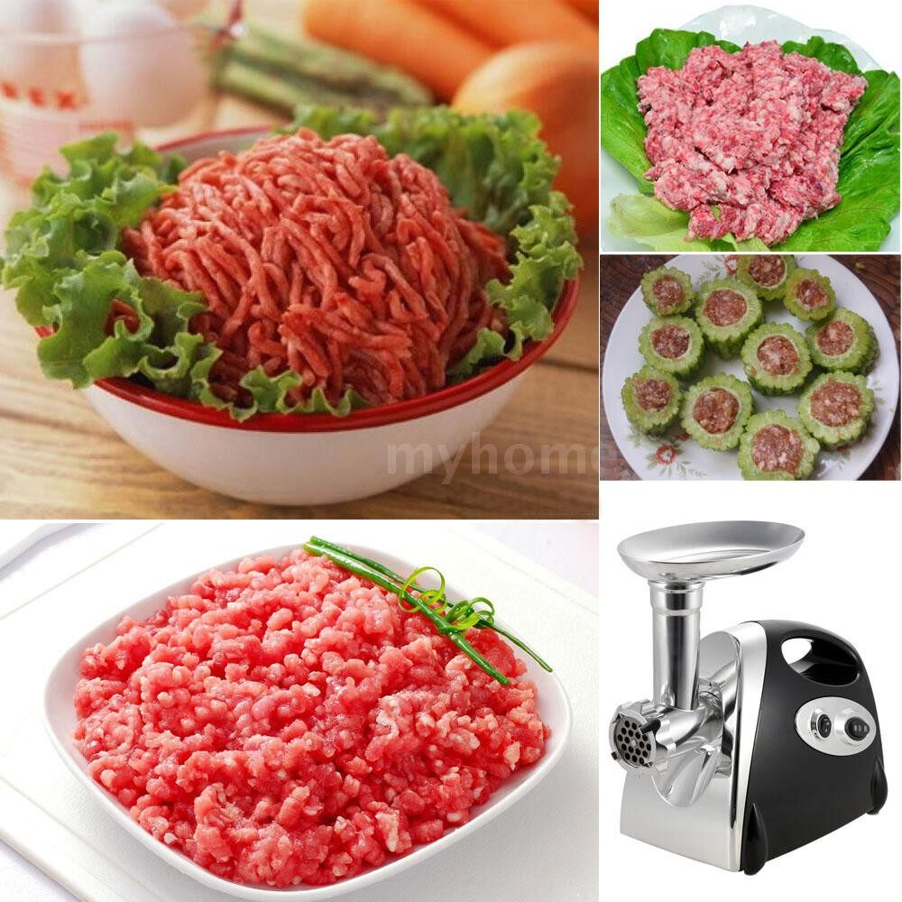 Small Kitchen Appliances - 100-120V Brand 300W Electric Meat Grinder Aluminium Alloy Household or Commercial Sausage Maker - Home