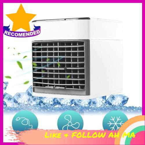 Best Selling Desktop Air Cooler Air Conditioner Fan Small Personal USB Desk Fan Quiet Air Cooler Cooling Fan 3 Speeds LED Colorful Misting Fan for Home Room Office (Standard)