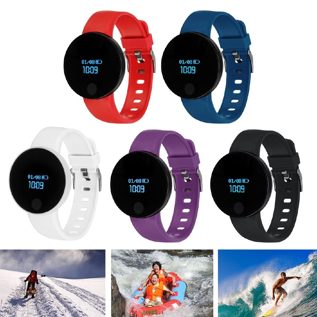 Smart Watch - Sleep Sports Smart Wrist Watch Heart Rate Monitor Blood Pressure Fitness Tracker - RED / WHITE / BLUE / BLACK / PURPLE