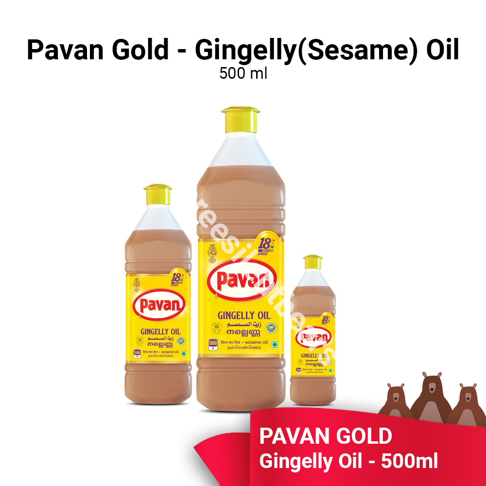 PAVAN GOLD GINGELLY (SESAME) OIL 500ML - READY STOCK - FAST SHIPPING - VALUE BUY