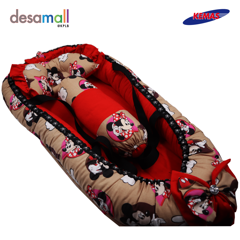 D\'HAS COLLECTION Baby Nest Selesa - Mickey Mouse