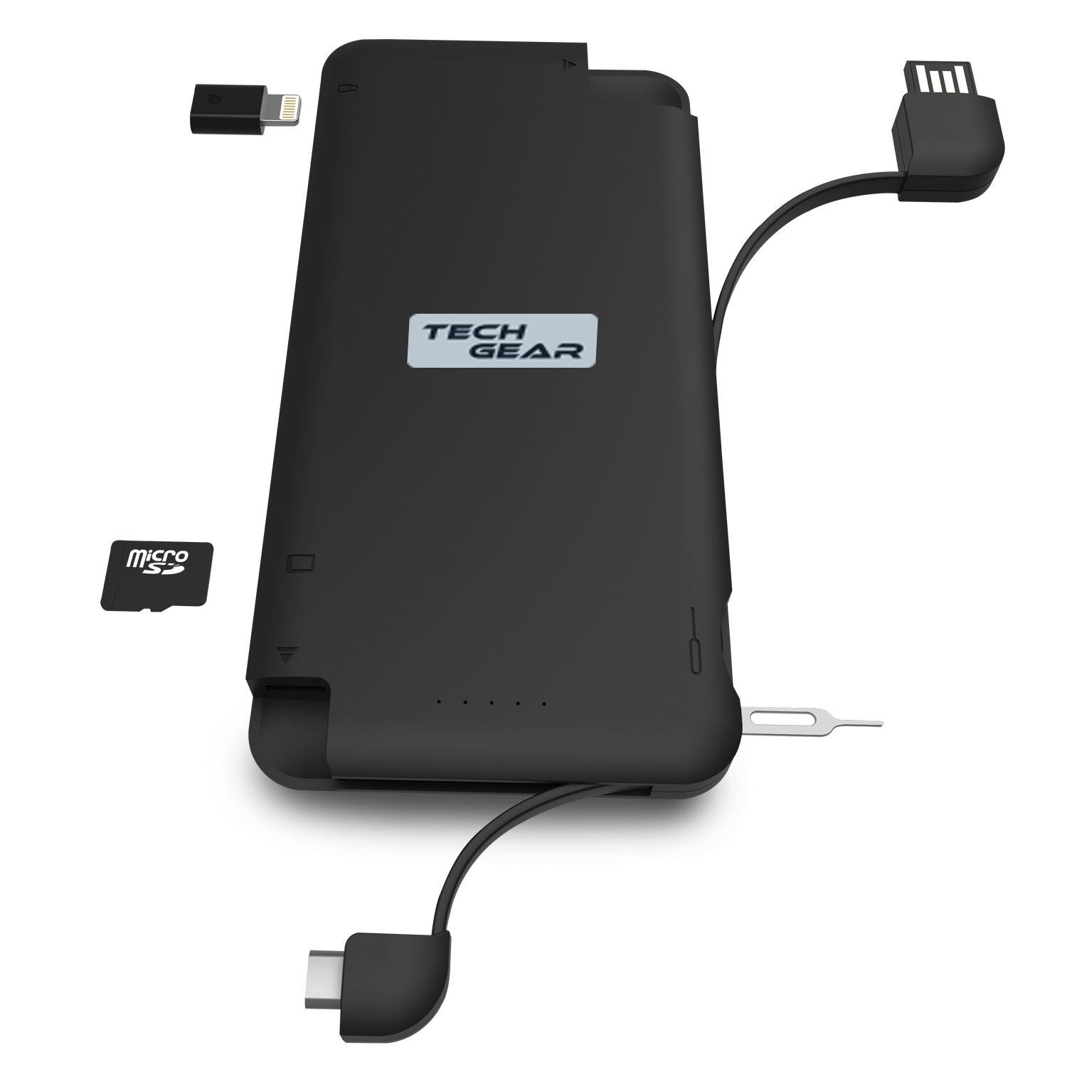 TECHGEAR Multifunctional Data & Portable Charger IQ+