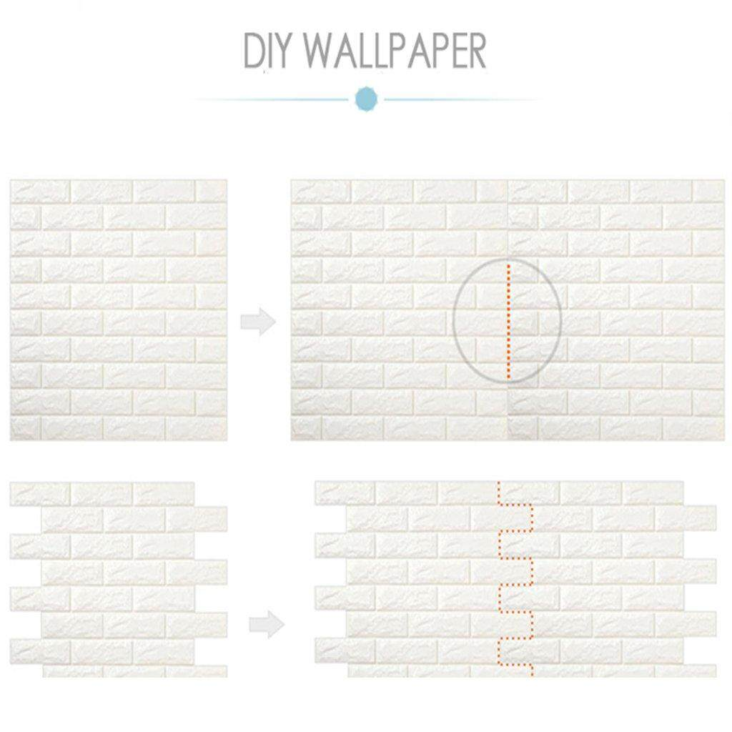 HAIRperone 3D Wallpaper DIY Wall Decor Embossed Brick Stone