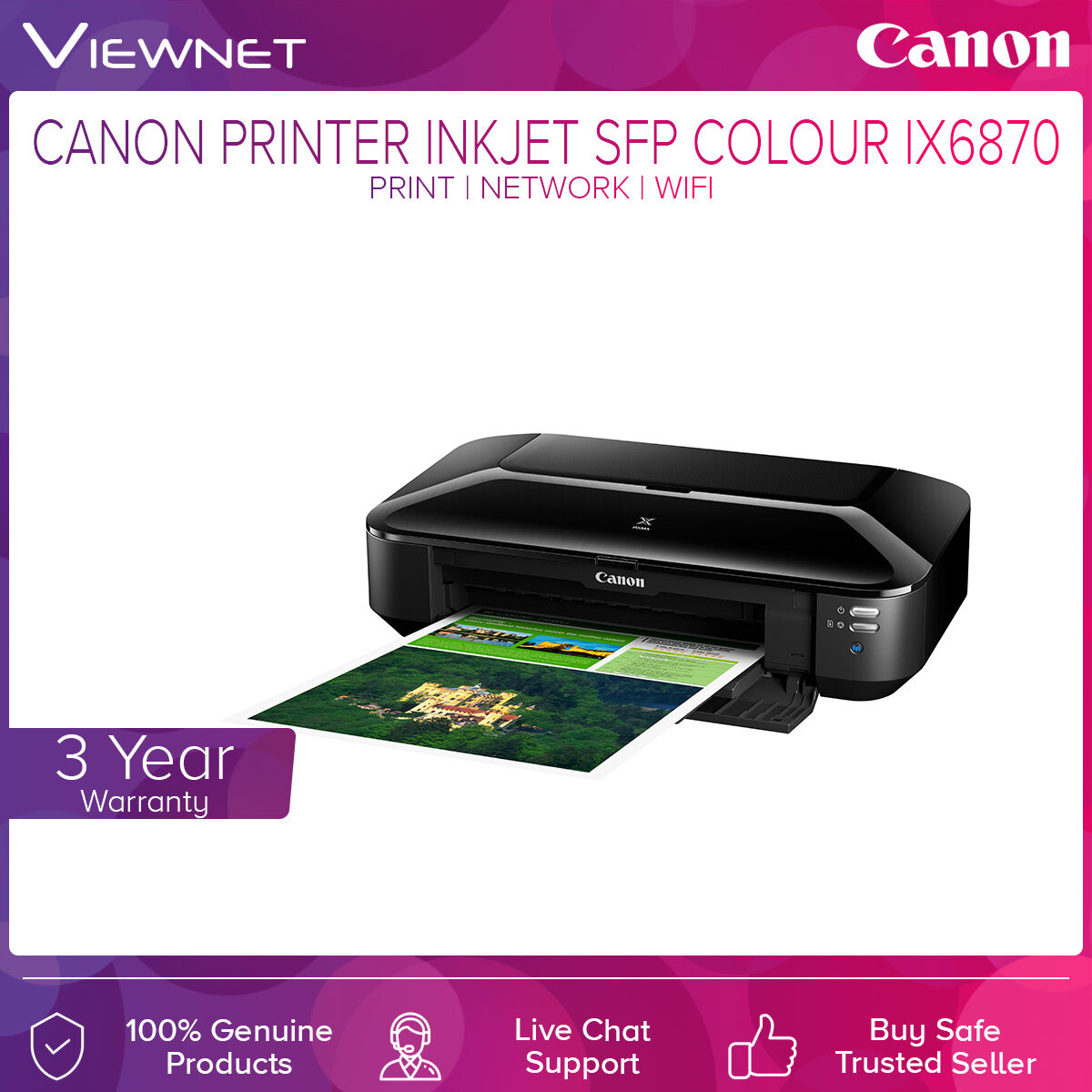 Canon PIXMA iX6870 Advanced Wireless Office A3 Printer Print Wireless Network AirPrint