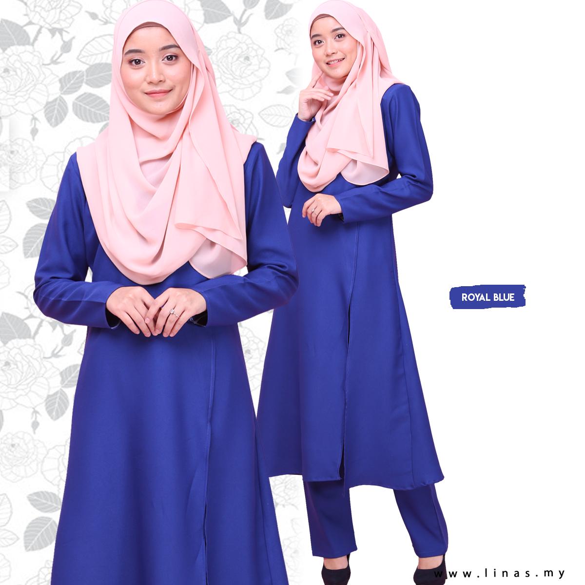 Long Suit SOFEA for Office Wear / Casual Wear / Seluar Muslimah / Umrah / Set Baju Seluar / Set Warda / Gamis