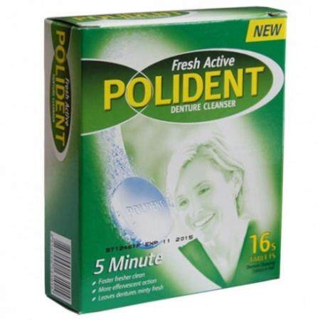 POLIDENT DENTURE CLEANSER TABLET 16S