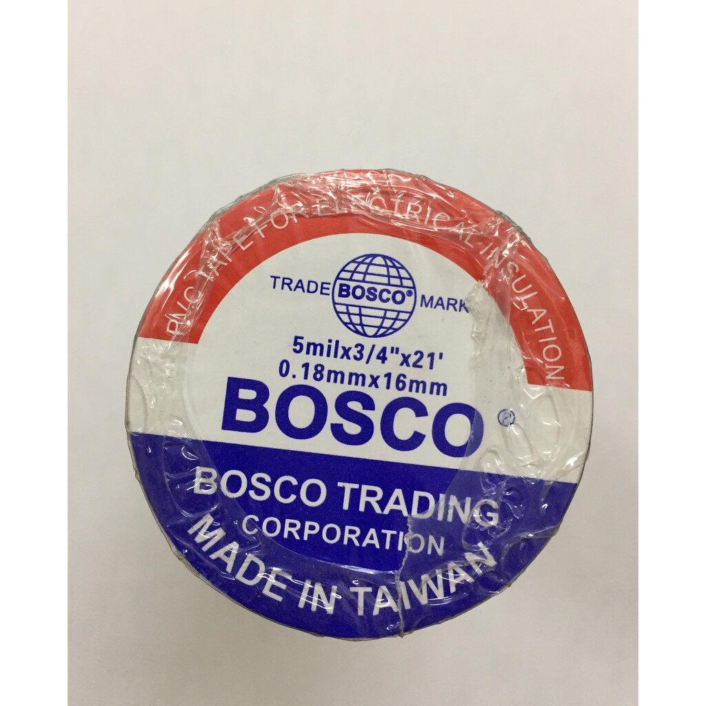 Bosco PVC Electrical Wire Tape(Black / Red / Yellow / Green / Blue) (5Pcs)