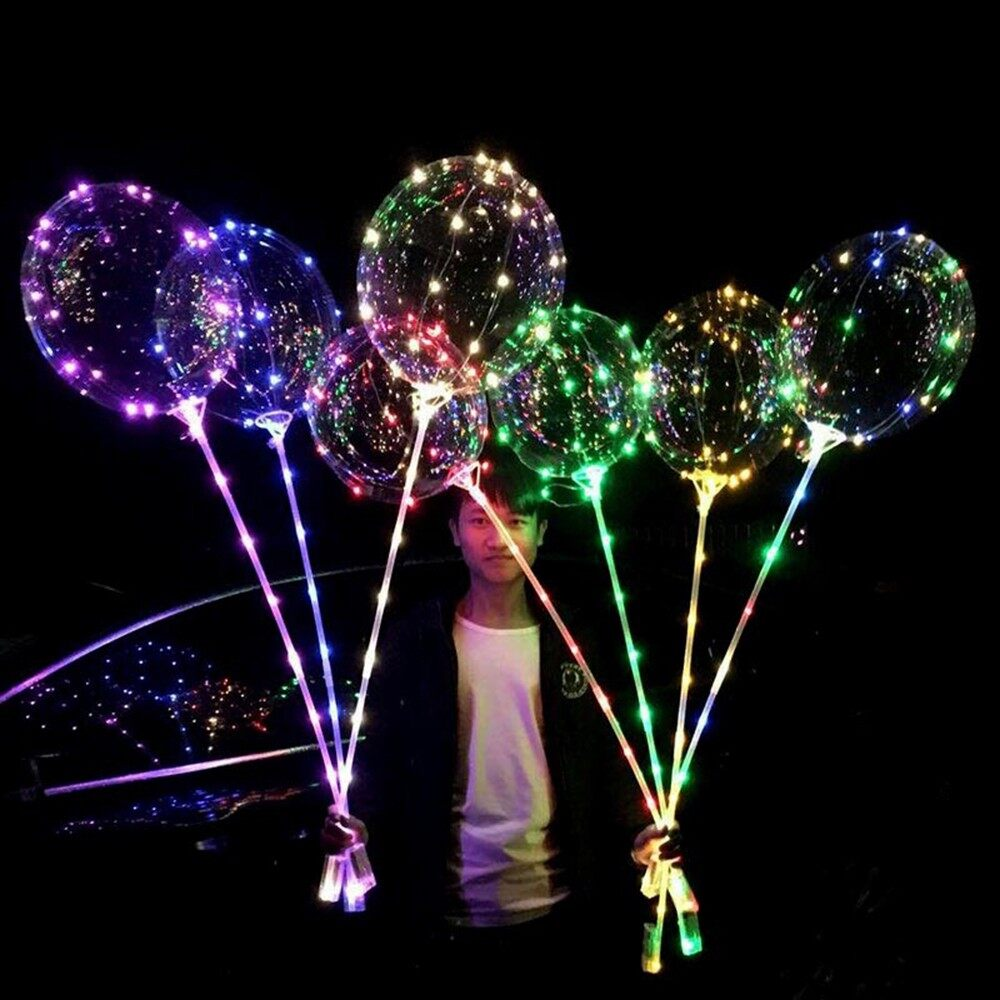 Lighting - 18inch Luminous LED BoBo Balloon Transparent Led Light Colorful Flashing Lamp - 1 PIECE(s)(WITHOUT STICK) / 3 PIECE(s)(WITH STICK) / 1 PIECE(s)(WITH STICK)