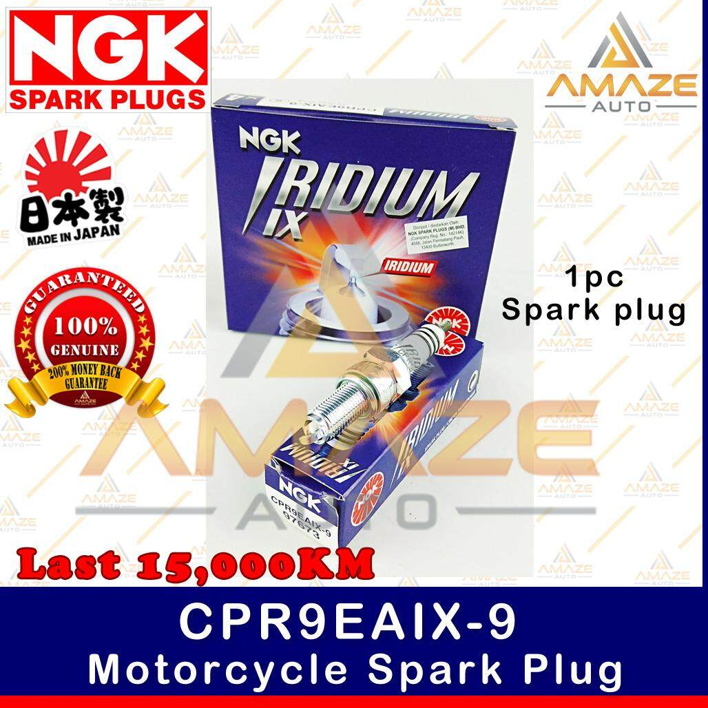 NGK Iridium IX Spark Plug CPR9EAIX-9 - Last 15,000KM (Honda RS150, Yamaha 135LC, MT-09