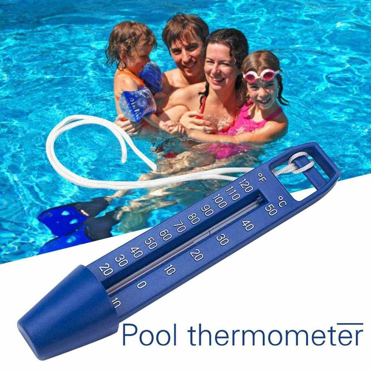 Pool Thermometer Premium Water Thermometers with String Degrees and Fahrenheit Accurate Temperature Readings Ideal for All Swimming Pools Spas Hot Tubs Ponds (Standard)
