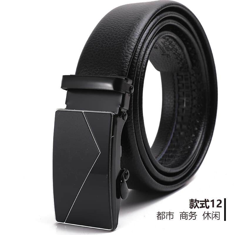 (NEW) [M\'sia Warehouse Direct] 2020 Korean Series Men\'s Leather Automatic Buckle Belt Line Design Series Perfect Gift For Love One Luxury Classy Style Suitable For Formal Wear Jeans Casual Wear Belt Long Lasting Tali Pinggan Kulit Halal