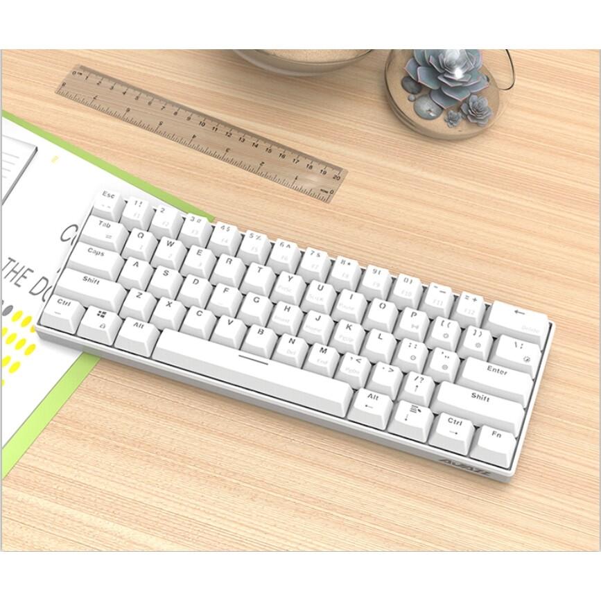 Keyboards - Ajazz i610T 61 Keys NKRO Dual Mode USB Wired BLUETOOTH 3.0 WIRELESS 17 Monochrome Backlight - BLACK-BLACK SWITCH / WHITE-BLUE SWITCH / BLACK-BLUE SWITCH / WHITE-BLACK SWITCH