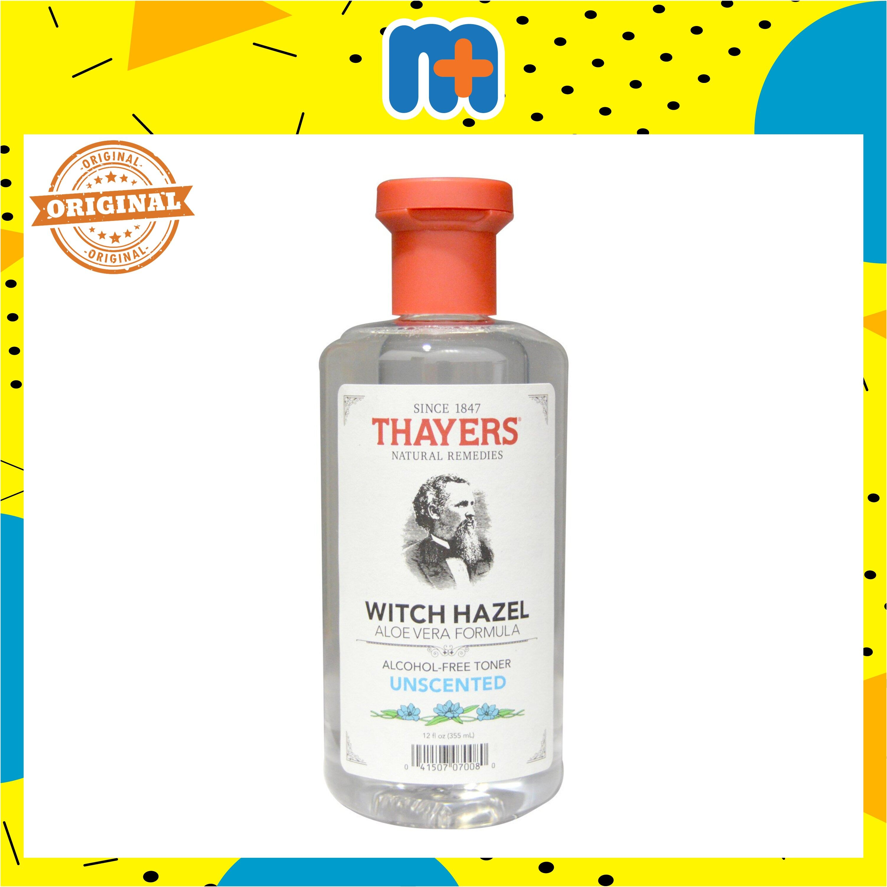 THAYERS UNSCENTED WITCH HAZEL WITH ALOE VERA TONER 355ML