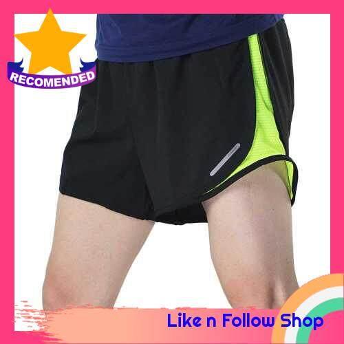 Arsuxeo Men\'s 2 in 1 Running Shorts Quick Dry Marathon Training Fitness Running Cycling Sports Shorts Trunks (gray)