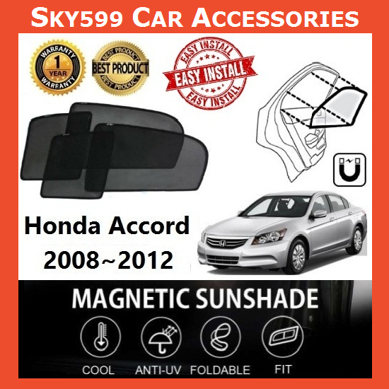 Honda Accord 2008-2012 Magnetic Sunshade ?4pcs?