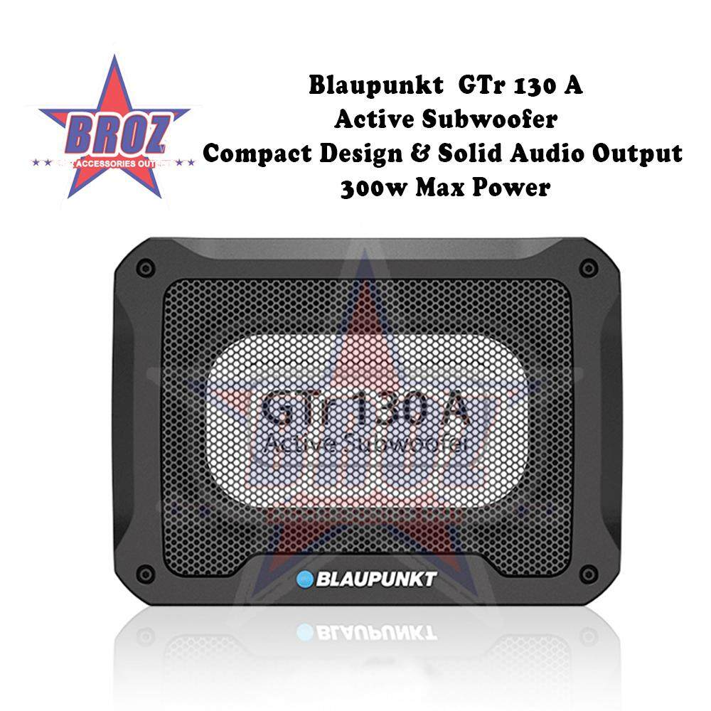 Blaupunkt GTr 130 A Active Subwoofer Compact Design & Solid Audio Output 300W Max Power