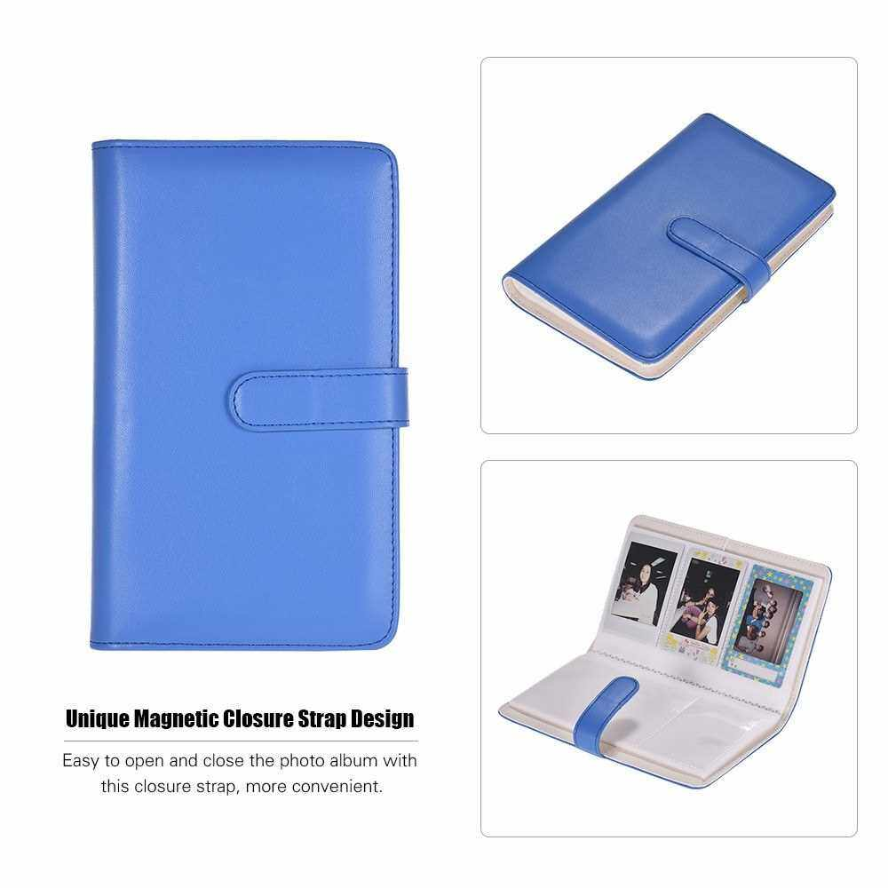 80 Pockets Portable Mini Photo Album Photo Pictures Book Album with Magnetic Closure for Fujifilm Instax Mini 9 8 7s 70 25 50s 90 Color Films Photo Camera Paper for Name Card Credit Card Birthday Christmas Gift for Friends Family (Royal Blue)