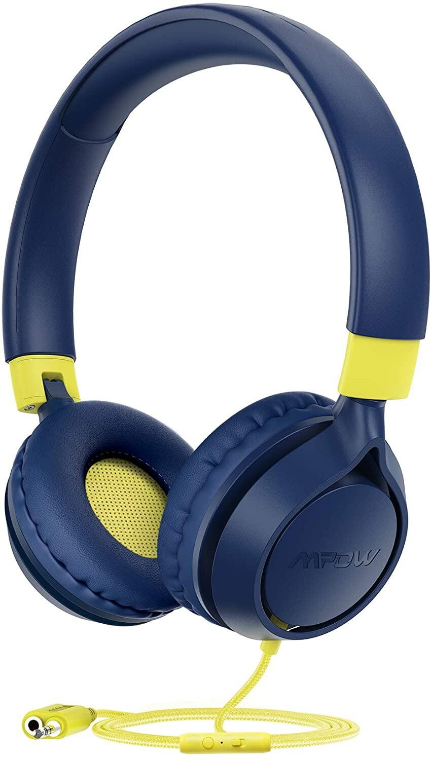 [ NEW ARRIVAL ] Mpow CHE1 Pro Kids Headphones with Microphone, Volume-Limiting 85/94dB Headphones for Kids, Wired Foldable Headsets with Audio Sharing for Study, Online Course, Travel, PC, Cellphones