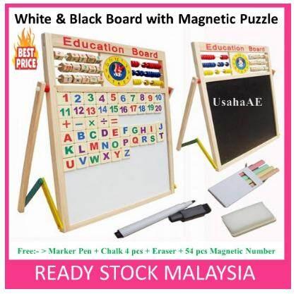 Wooden Writing Whiteboard BlackBoard Early Educational Learning READY STOCK toys for girls