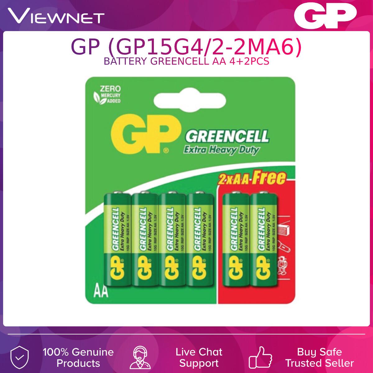 GP BATTERY GREENCELL AA 4+2PCS (GP15G4/2-2MA6)