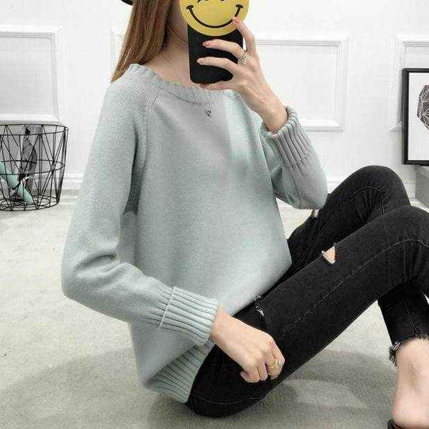 (Pre Order14 Days JYS Fashion Korean Style Women Knit TopCollection526-9860col525a-9860--Grey -S
