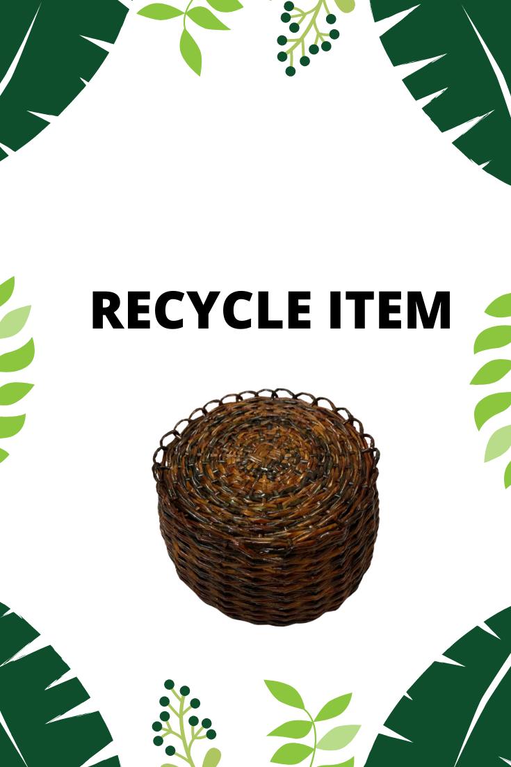 EGL Handmade Recycle Item (Old Newspaper Basket)/Buatan Tangan Barang kitar Semula (Dari Suratkhabar Lama)