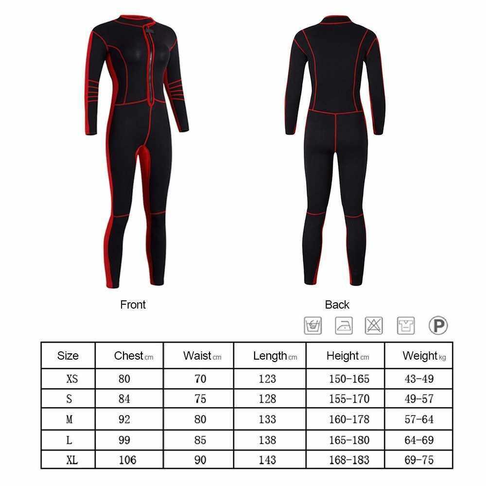 Best Selling 1.5mm Neoprene Women Full Body Snorkeling Diving Suit Wetsuit UV Protection Long Sleeve Swimwear Sailing Swimming Suit (L)