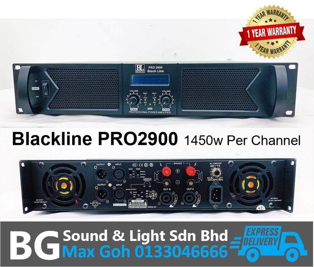 Blackline PRO2900 2 Channel 1450w 8 Ohms Per Channel Power Amplifier