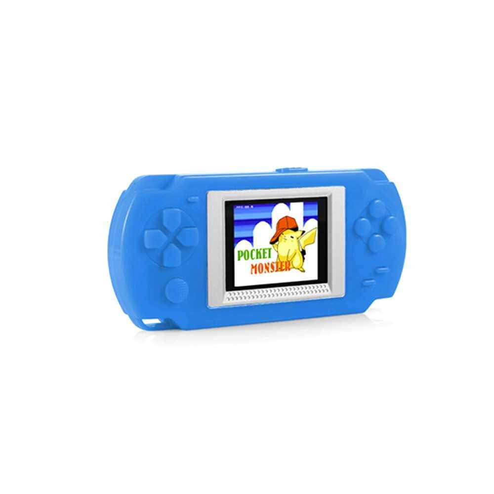 2.0 inch Game Console Built-in Free 268 Games (Silver Blue)