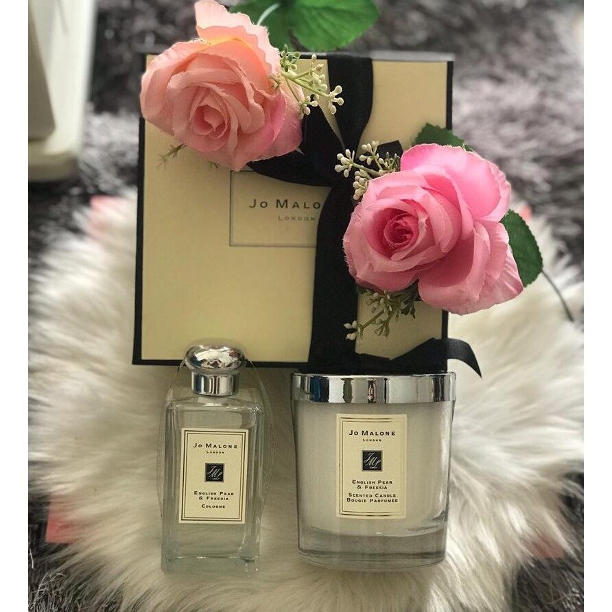 Jo_Malone Candle & Perfume 2 in 1 English Pear & Freshie { Original Quality }