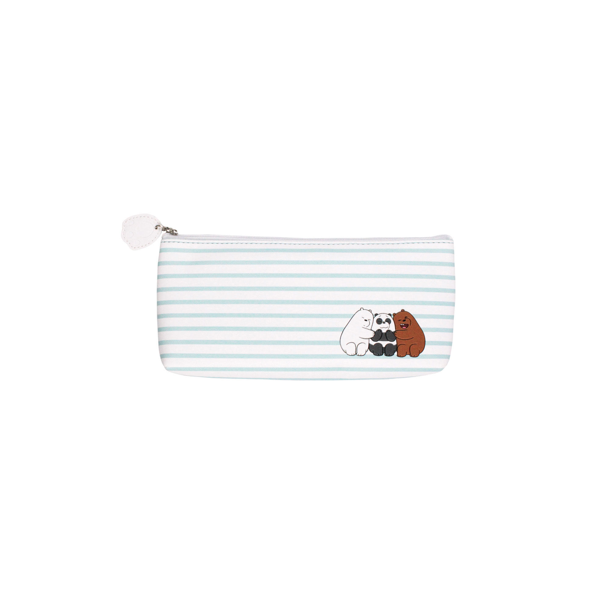 We Bare Bears Children Round Pencil Pouch - Grizz, Ice Bear & Panda