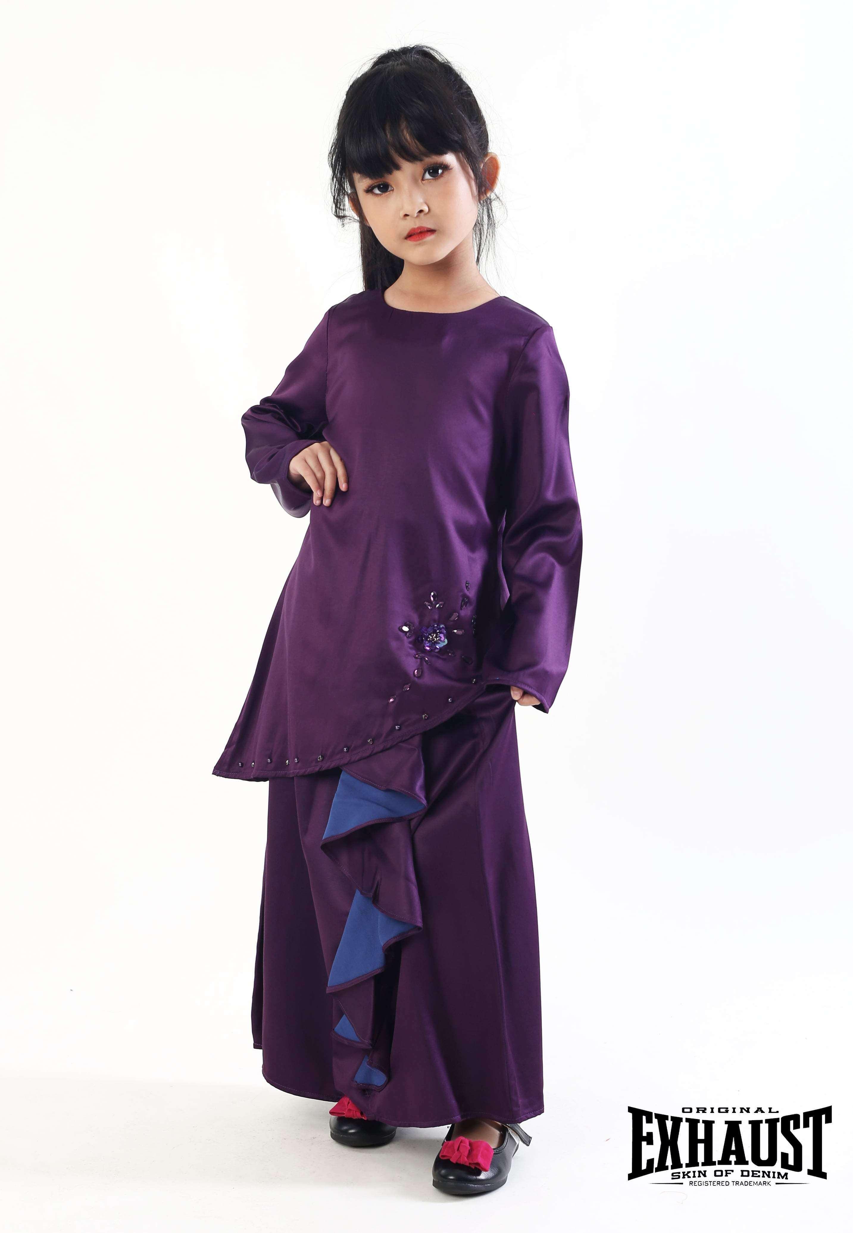 Exhaust Baju Kurung Fashion Kids 7115#4