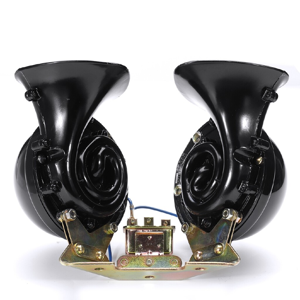 Automotive Tools & Equipment - 350DB 12V Pair Waterproof Electric Dual Snail Air Horn Bull Super Loud Raging Sound Car Truck - Car Replacement Parts