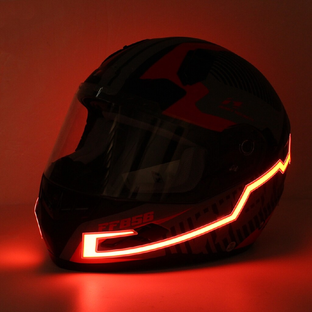 Moto Helmets - Motorcycle Helmet LED Night Signal Light Strip Luminous Stripe Fashion Glowing - GREEN / RED / WHITE / WHITE LIGHT / YELLOW / ICE BLUE / BLUE / PURPLE