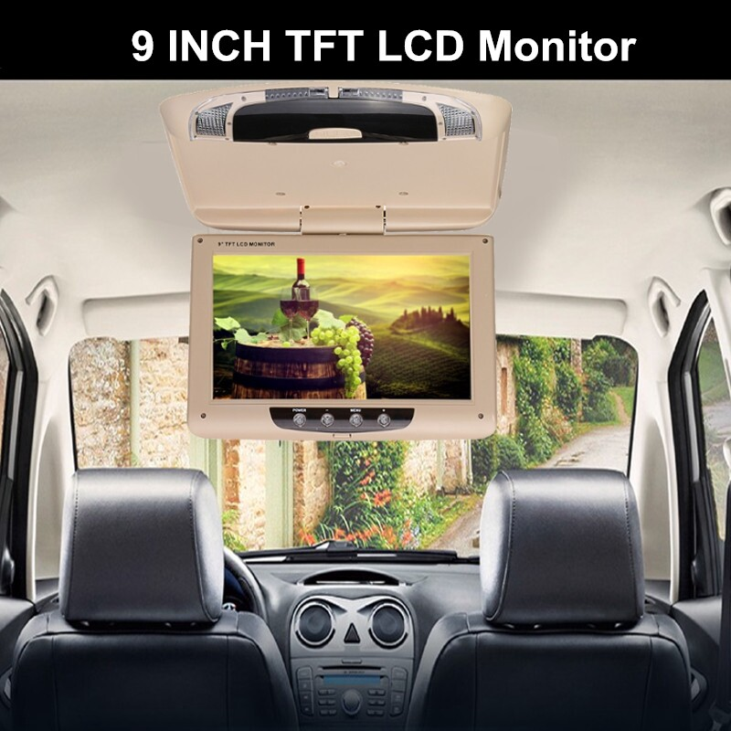 Vehicle Speakers & Subwoofers - 9 Roof Ceiling Car Flip Down Monitor Auto Overhead LCD TFT USB HDMI Player - Car Electronics