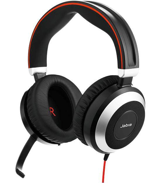 Jabra Evolve 80 MS Office Headset with ACTIVE Noise Cancellation