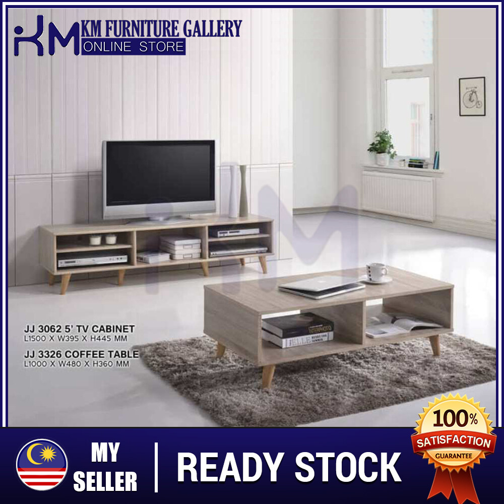 KM Furniture Living Set/ 5' Feet TV Cabinet & Coffee Table KMJJ30623326