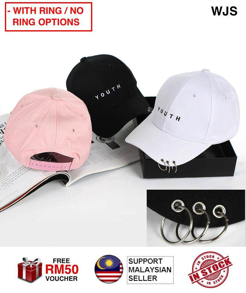 (SUPER POPULAR) WJS Women Youth Baseball Cap Trucker Cap Golf Hat Snapback Caps WITH RING MULTICOLOR [FREE RM 50 VOUCHER]