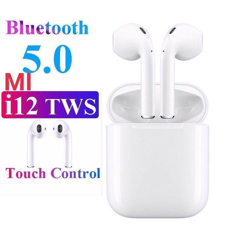 2019 NEW MI12 TWS Blue Tooth Earphone Wireless Earphones Touch Control Headset 3D