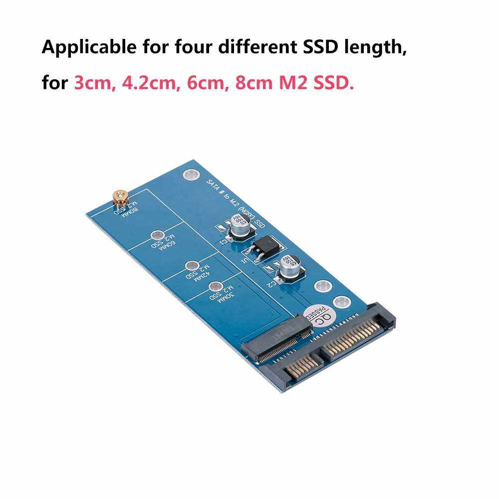 Best Selling NGFF M.2 SSD to SATA 3.0 Adapter Card Converter for 30/42/60/80mm M.2 SSD Hard Drive (Blue)