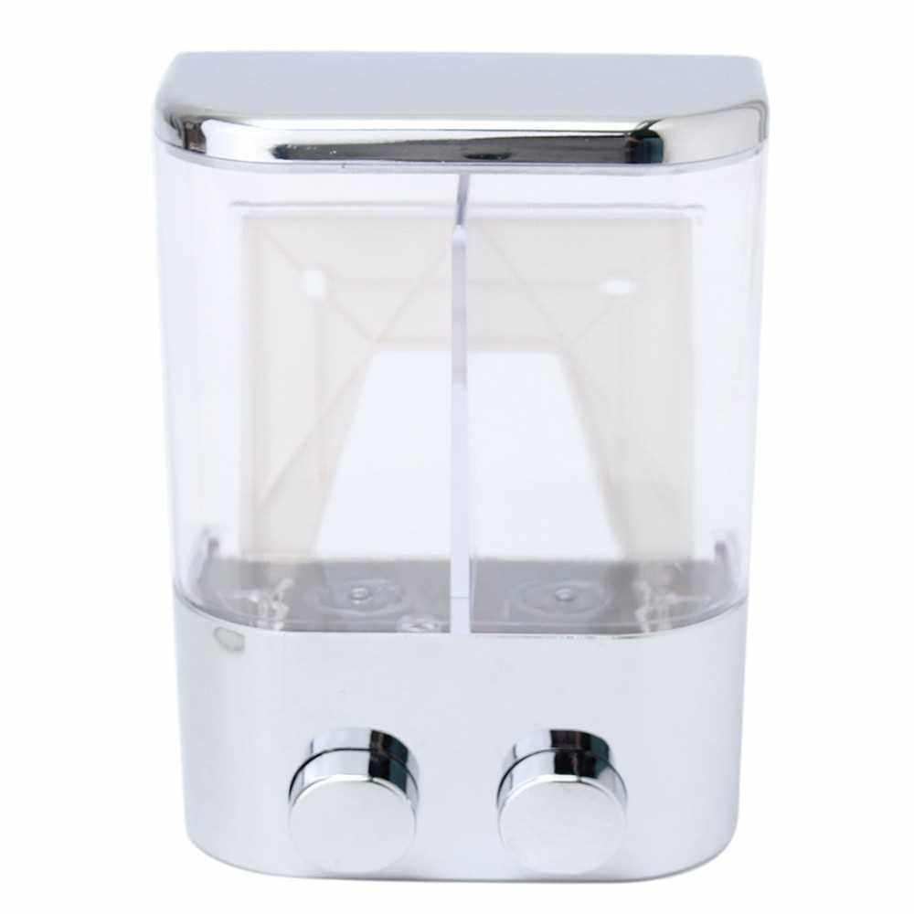 People's Choice Double Wall Mount Soap Shampoo Shower Gel Dispenser Liquid Foam Lotion Bottle (Type 2)