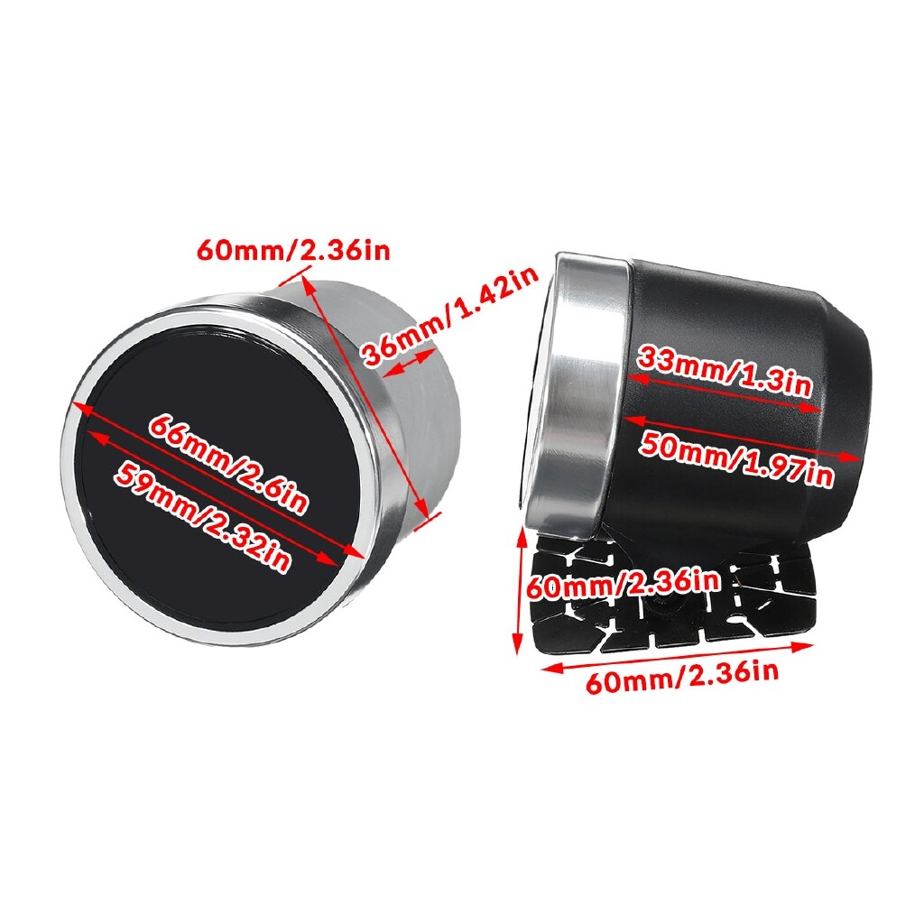 Car Lights - 12V 2.5 60mm Car Air Fuel Ratio Gauge AFR Meter 10 Color LED Display Black Face - Replacement Parts