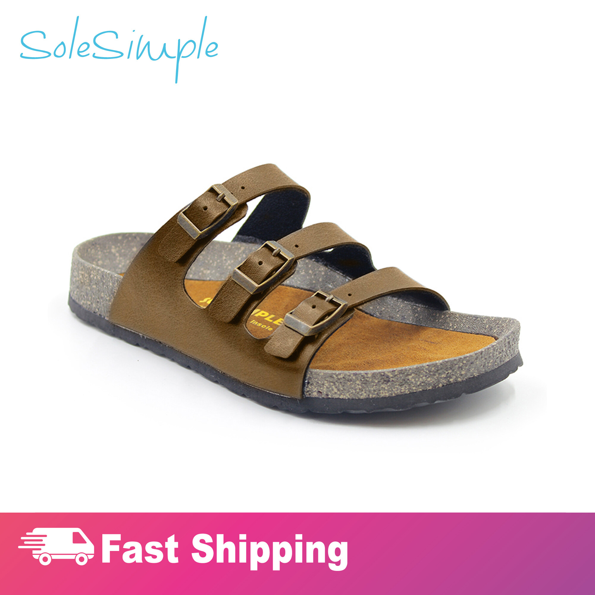 SoleSimple Ely - Leather Camel / Sandal