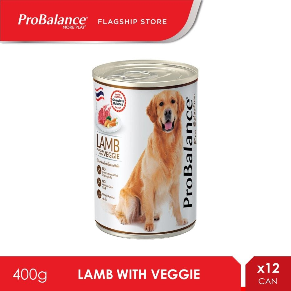 ProBalance 400G Lamb Pro Selection Adult Wet Dog Food X 12 Cans [makanan anjing]