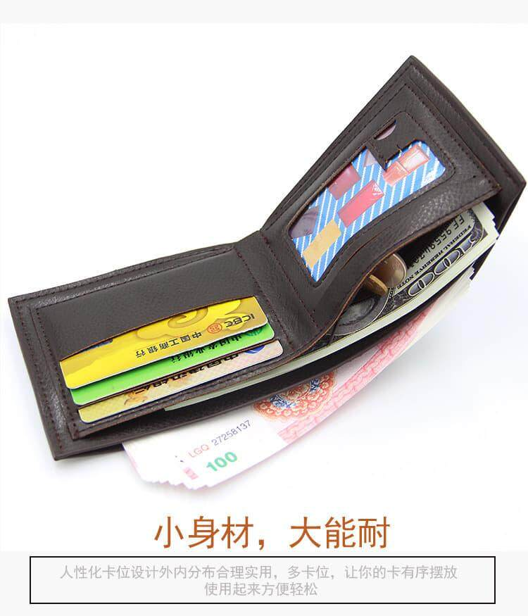 [READY STOCK] 2019 Italy Designer Men's Wallet Bio Fold Fengshui Wallet Korean-style Best Father's Day Gift Clutch Card Coins Cash Slot With Zip Portable Hand Carry Bag Luxury Top Material Genuine Leather Halal Dompet Kulit