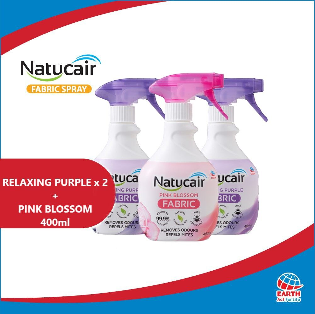 Natucair Fabric Spray Assorted Variants Bundle of 3 [400ml x3]EHB000012f