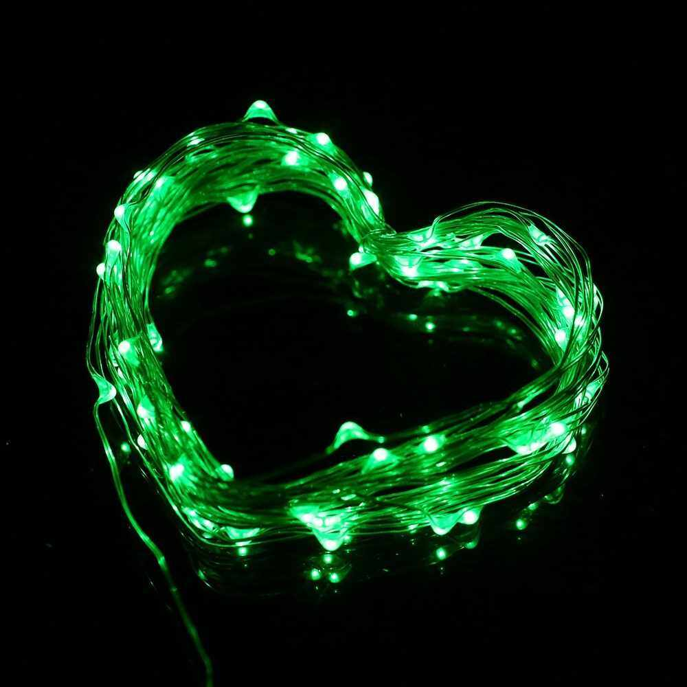 9W 15M/49.2Ft 150 LEDs Solar Powered Energy Copper Wire Fairy String Light Lawn Lamp with 8 Different Lighting Modes Effects Flexible Twistable Bendable IP65 Water Resistance Built-in 1000mAh High Capacity Rechargeable Battery Green for Yard Garden Patio