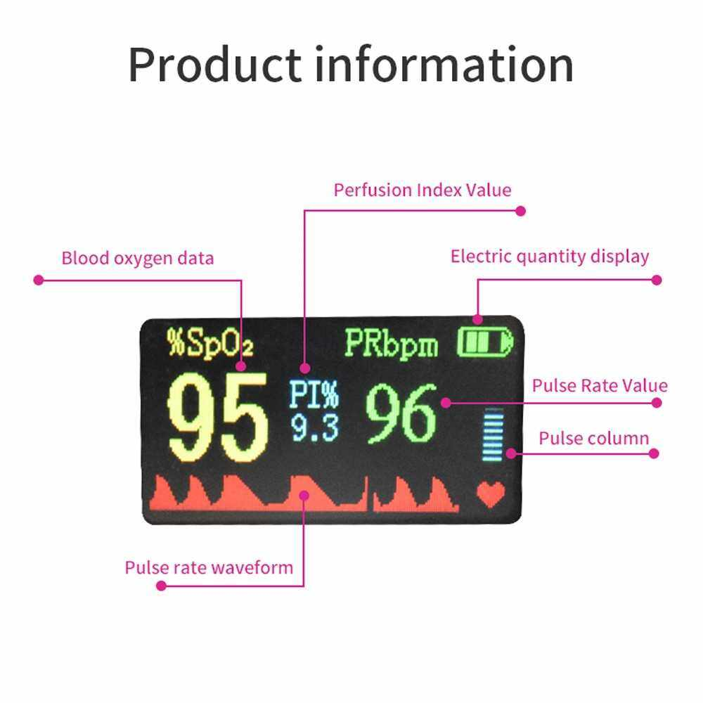 Household Finger Oximeter Pulse Rate Perfusion Index SPO2 Blood-oxygen Data Measurement OLED Display with Automatic Shutdown Function (Standard)