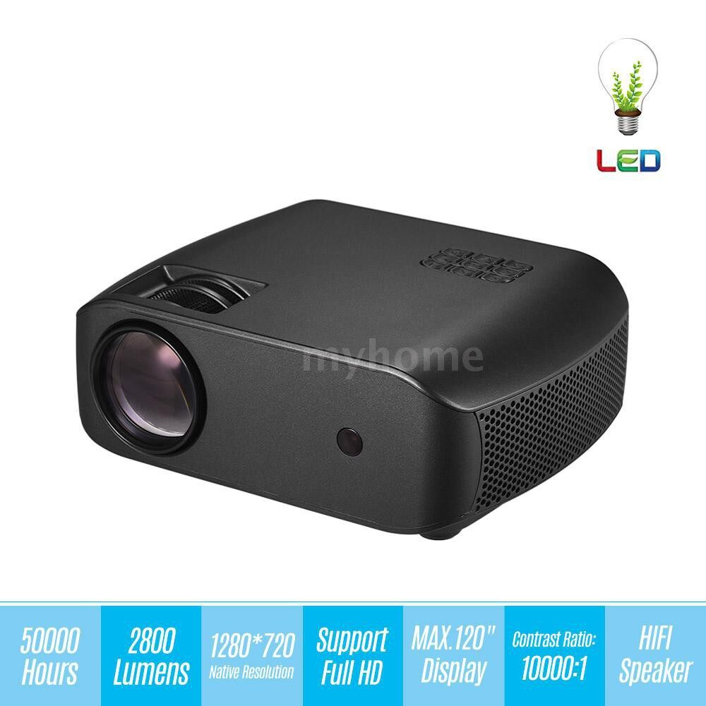 Printers & Projectors - PORTABLE LED Video Projector Home Theater Projector 50000 Hours 2800 Lumen Lamps Life 10000:1 - Computer & Accessories